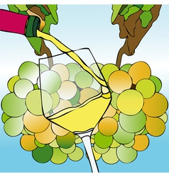 White Wine and Harvest vector image