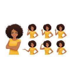 Woman different gestures vector