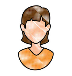 Woman female avatar character vector