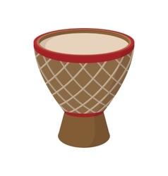 Australian ethnic drum icon cartoon style vector image vector image