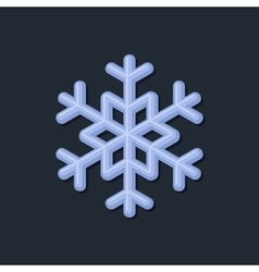 Blue Snowflake on Dark Background vector image