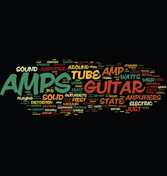 learn about the guitar amp and how it works text vector image