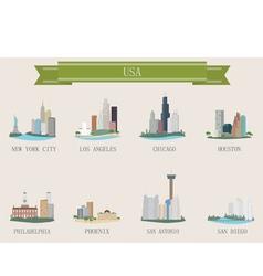 american cities vector image