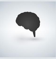 blak brain icon flat disign vector image