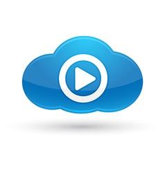 Cloud Computing Media Icon vector image