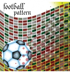football abstract pattern vector image