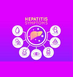 hepatitis icon design infographic health medical vector image vector image