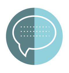Sticker chat bubble communication message vector