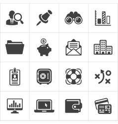 Trendy business and economics icons set 3 vector image vector image