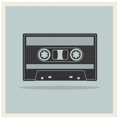 Audio Compact Cassette Tape on Retro Background vector image