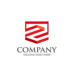 best letter z geometric logo symbol vector image