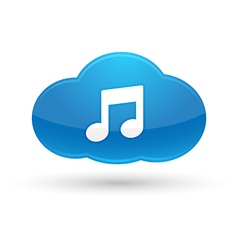 Cloud Computing Music Icon vector image vector image