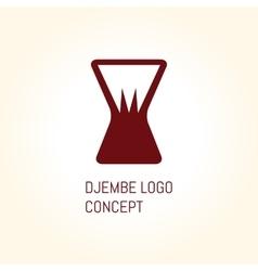 Djembe logo concept vector image