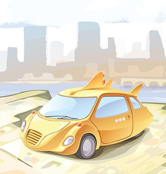Futuristic Cab vector image vector image