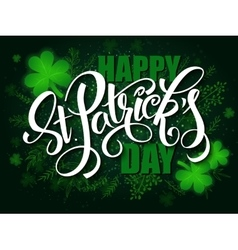 hand lettering saint patricks day greetings vector image vector image