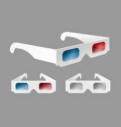 set of 3d glasses vector image vector image
