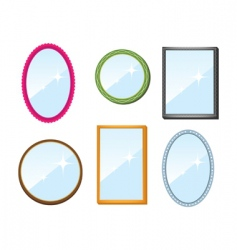 set of mirrors vector image vector image