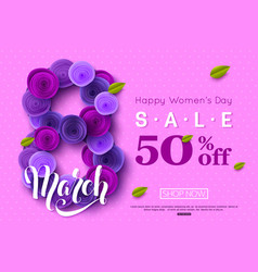 8 march sale background decorated ultra violet vector