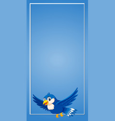 a blue flying border vector image