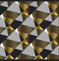 abstract luxury gold and black seamless pattern vector image
