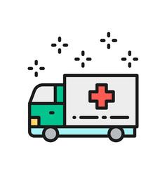 Ambulance car emergency medical truck hospital vector