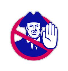 American patriot stop sign retro vector