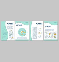 Autism brochure template vector
