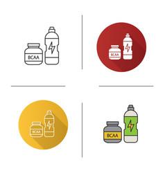Bcaa supplement icon vector
