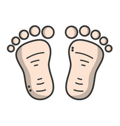 Beauty baby footprint design icon vector