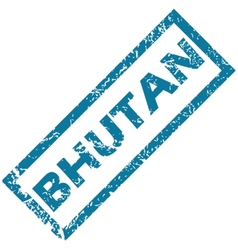 Bhutan rubber stamp vector