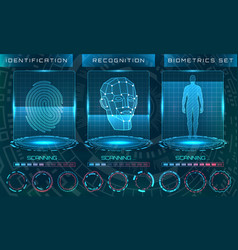 biometric identification personality scanning vector image