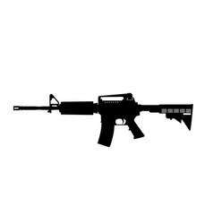 black silhouette machine gun vector image
