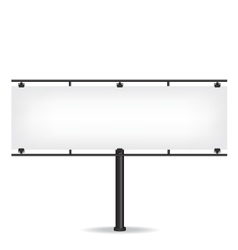 Blank black billboard on white background vector image