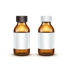 Blank Glass Medical Bottle Isolated vector image