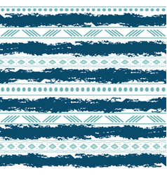 Blue and white tribal seamless pattern with vector