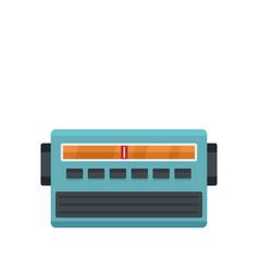 Blue fm radio icon flat style vector