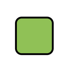 Box checkbox unchecked flat color icon icon vector
