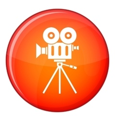Camcorder icon flat style vector image