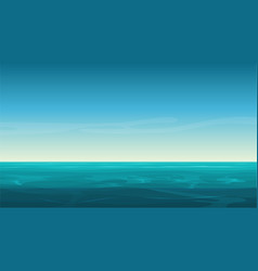 cartoon clear ocean sea background with vector image