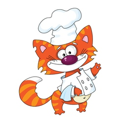 Cat the cook vector image