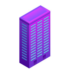 city smart building icon isometric style vector image