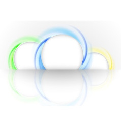 Colorful advertising rings template vector image