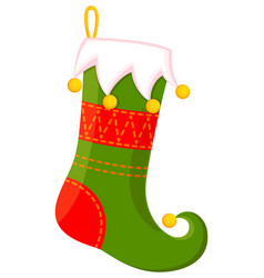 colorful cartoon cute christmas stocking vector image