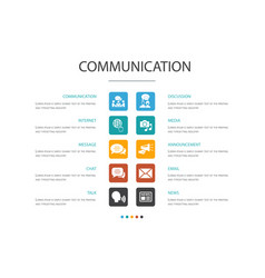 communication infographic 10 option concept vector image
