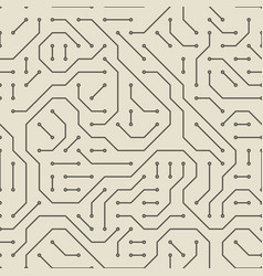 computer circuit board seamless pattern vector image