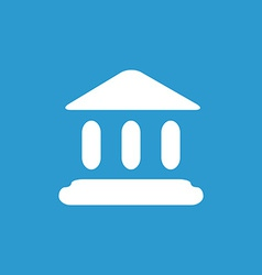 court law icon white on the blue background vector image