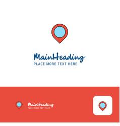 creative map navigation logo design flat color vector image