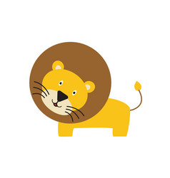 cute and funny lion running and smiling vector image