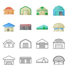 Design architecture and facade symbol vector