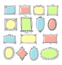 Design elements Sketch of hand drawing frames and vector